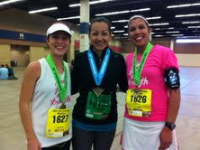 half marathon and full marathon finishers!!!  Personal Records for all three!